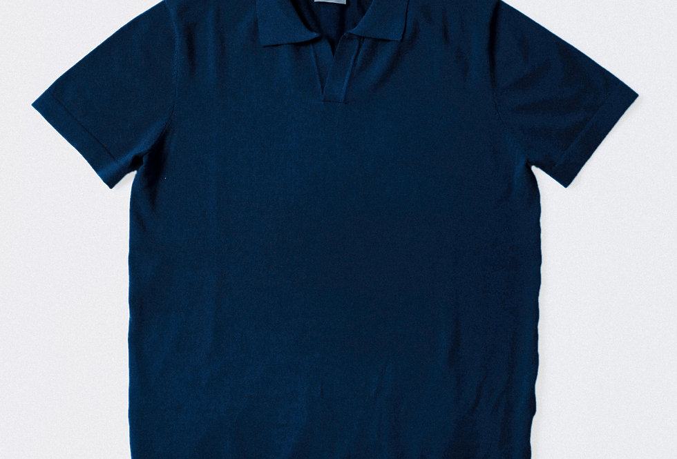RTW Navy Button-less Polo