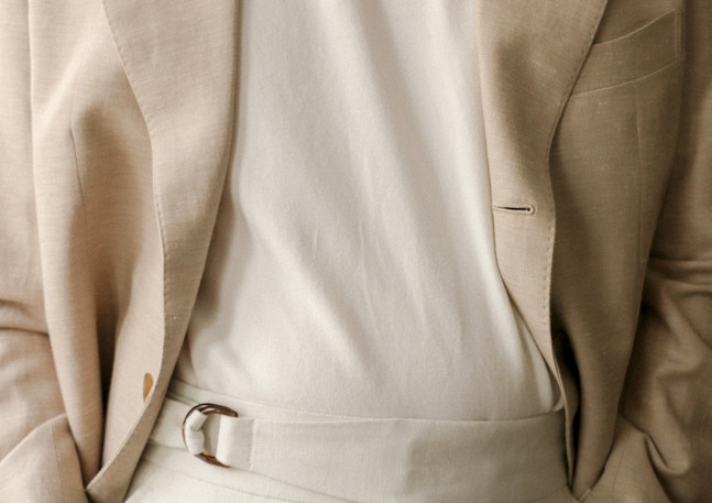 Jacket made with linen from Lanitex