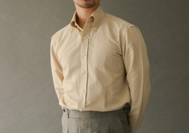 Shirt made with cotton-linen blend from Soktas