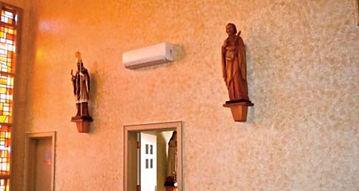 Fujitsu indoor unit mounted on wall