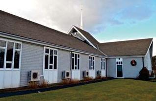 trinity church building with fujitsu outdoor units