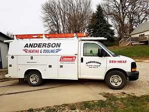 Anderson Heatin & Cooling Service Truck