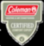 Coleman Certified Comfort Expert Badge