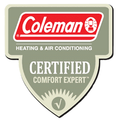 Coleman Certified Comfort Expert Badge