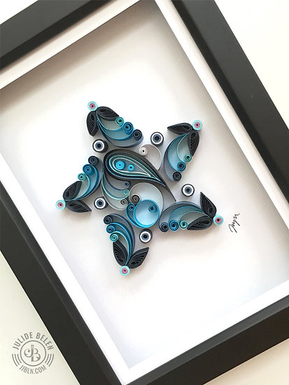 Quilled Paper Art: Blue Star