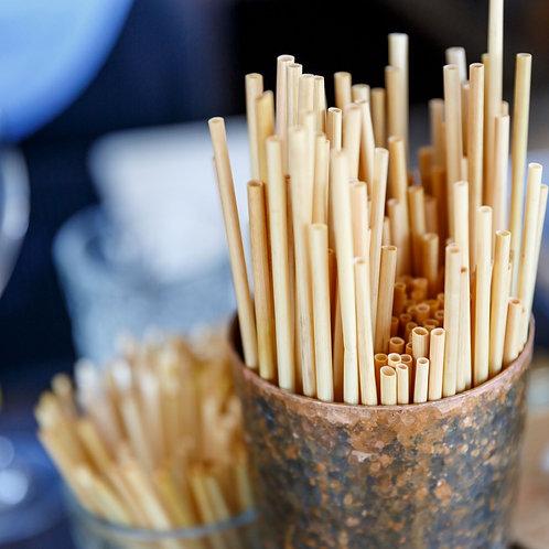 100 Wheat stems drinking straws 20cm