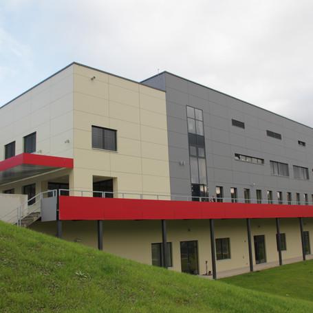 Sports hall and football field Dravograd