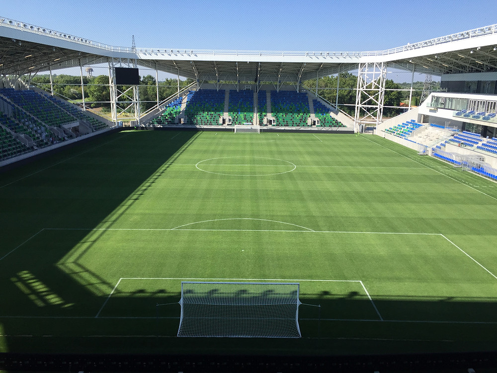 SZIC Szeged Football Stadium with hybrid grass system, irrigation system and heating...