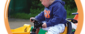 Under 7s pedal tractors and ride ons