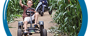 go karts in the maze