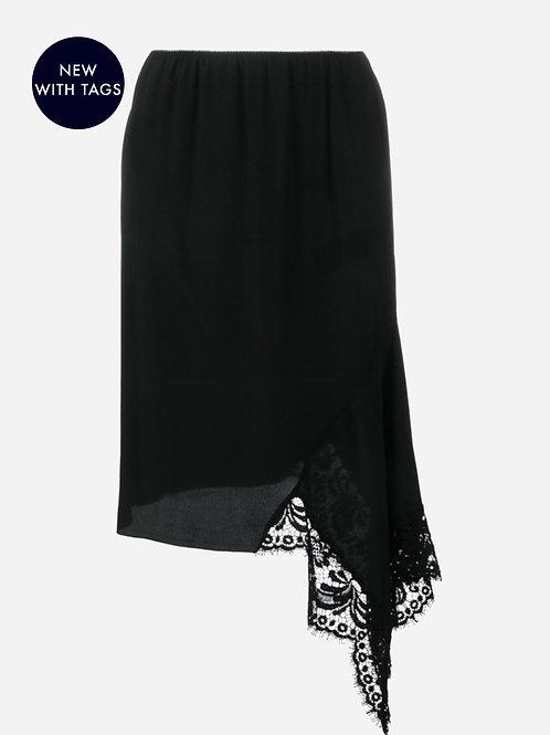 Nº21 Asymmetric Lace Detail Skirt
