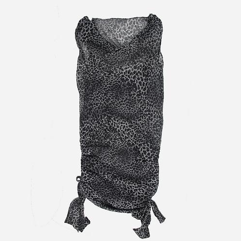 Aeffe Spa Leopard Print Silk Dress S