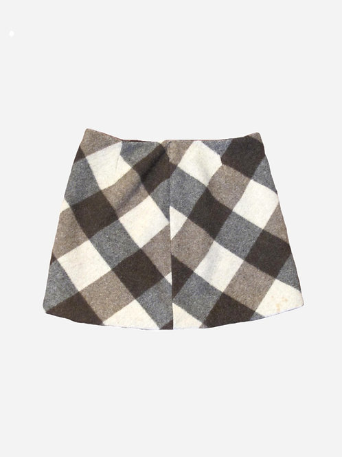 Pinko Wool Mini Check Skirt S
