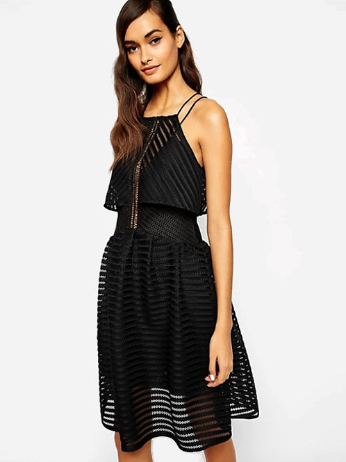 Self-Portrait Cropped Overlay Dress XS
