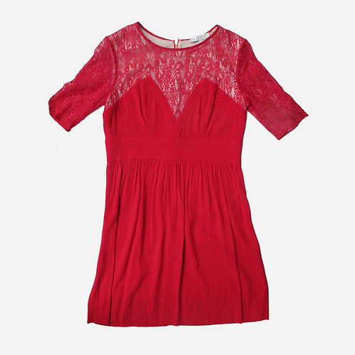 Sandro Red Lace Dress M