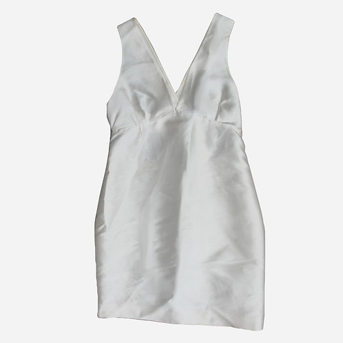 Gucci White Silk Dress S
