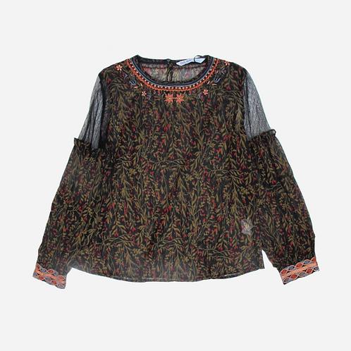 Zara Printed Blouse S