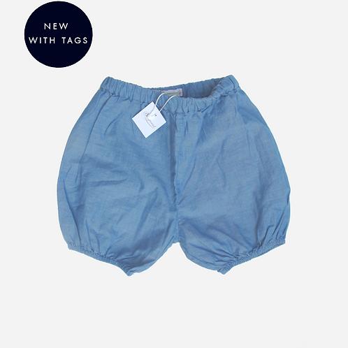 Baby Girls Bonpoint Light Blue Cotton Shorts 6M