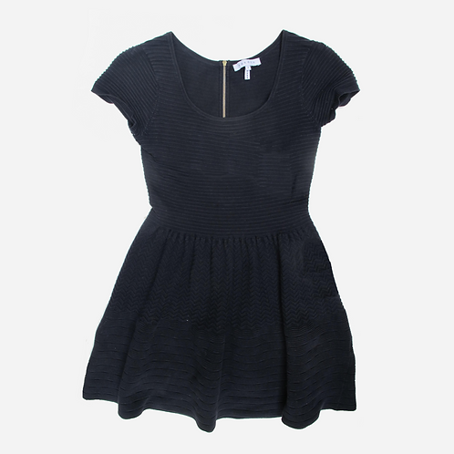 Sandro Ribbed Jersey Dress M