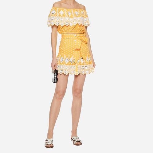 Miguelina Yellow Emy Polka Dot Co-Ord XS
