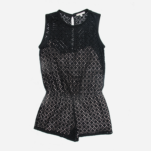 Maje Armoire Eyelet Lace Playsuit M