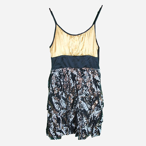 Matthew Williamson Gold and Sequined Dress XS/S