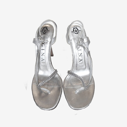 Gina Silver Sandals UK 4.5