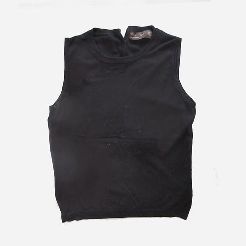 Zara Basic Black Vest Top M