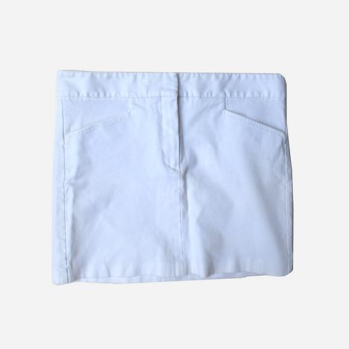Theory Cotton White Mini Skirt  S/M