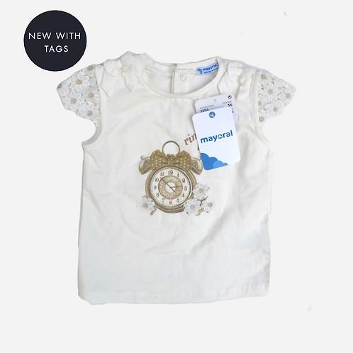 Toddler Girls Mayoral Ring Ring T-shirt 3T