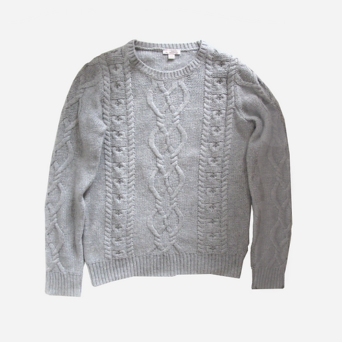 Gap Grey Cable Knit Jumper XS