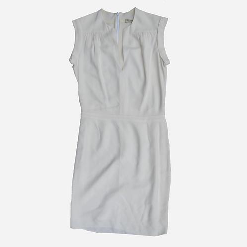Balenciaga Ivory Crepe Dress S