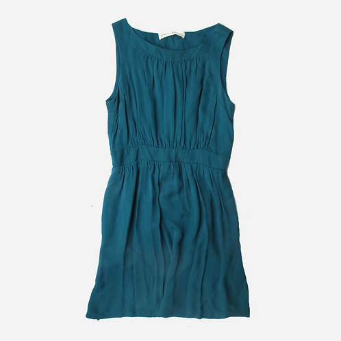 Graham & Spencer Petrol Green Silk Dress L