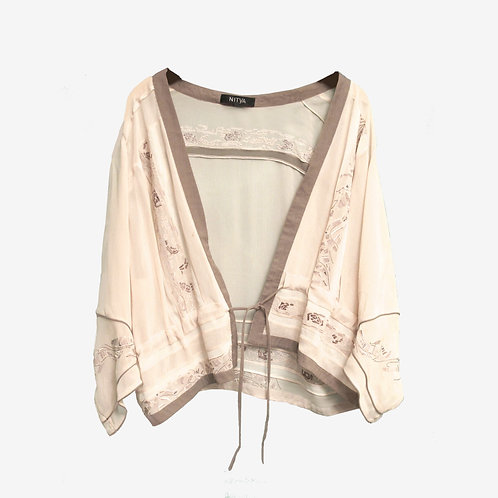 Nitya Pale Pink Embroidered Wrap XL