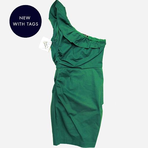 Badgley Mischka Green Cotton Dress S