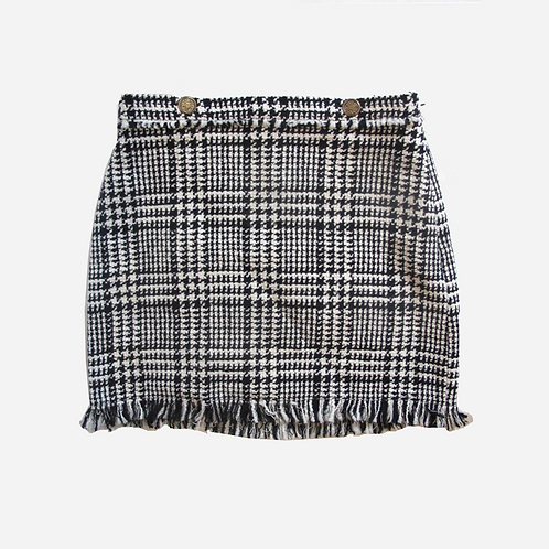 Zara Houndstooth Skirt M