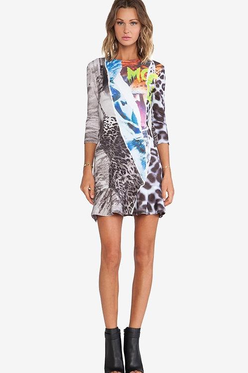 Mcqueen by Alexander Mcqueen Printed Dress XS