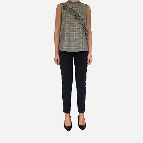Zara Check Blouse S