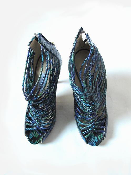 Jimmy Choo Quito Snakeskin Shoe Boots UK 5.5