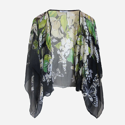 Lulu Guiness Sheer Floral Cover Up M/L