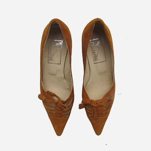 Venise Collection Tan Suede Shoes UK 3.5