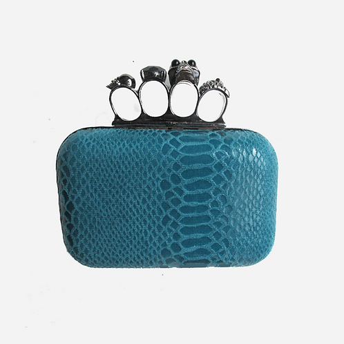 Paris Baboune Teal Clutch
