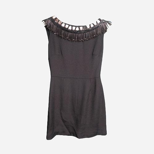 Issa Black Beaded Dress S