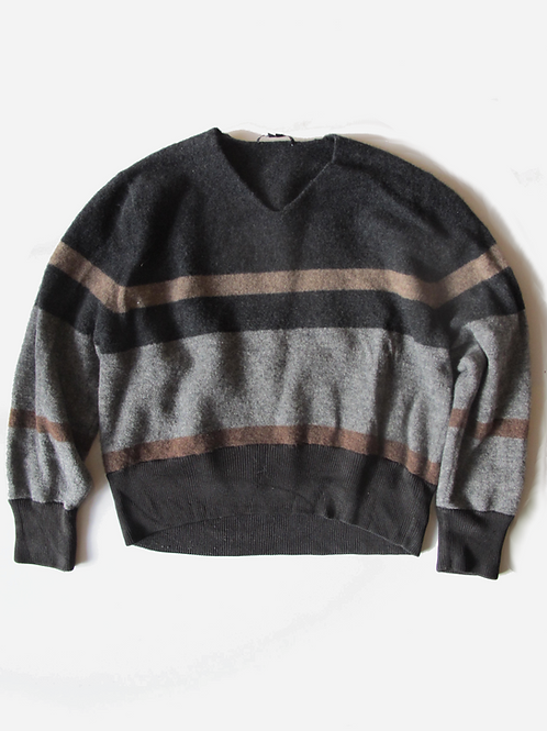 Theykenns Theory Brown & Grey Wool Jumper XS