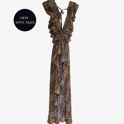 Monaco Leopard Print Maxi Dress S
