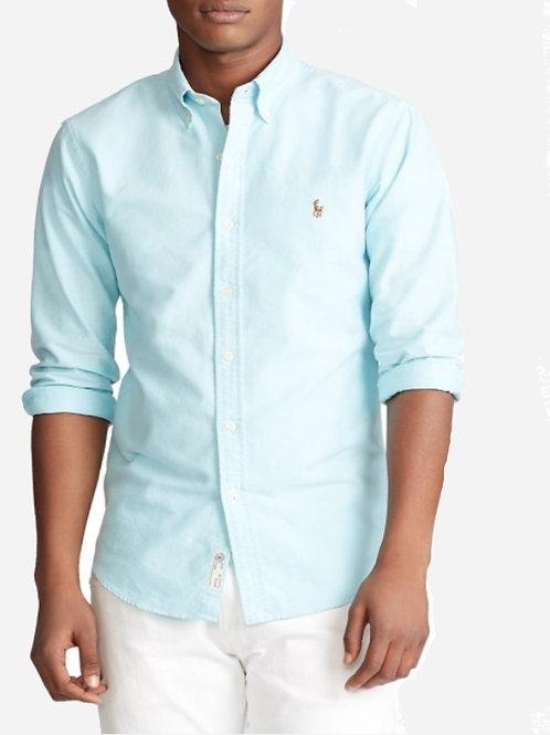 Polo by Ralph Lauren Aqua Shirt- Custom fit S