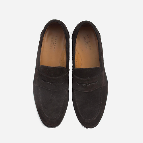 Shipton & Heneage Suede Brown Loafers UK 8.5