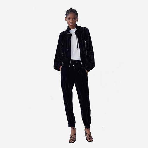 Zara Velour Zip up Jacket XS
