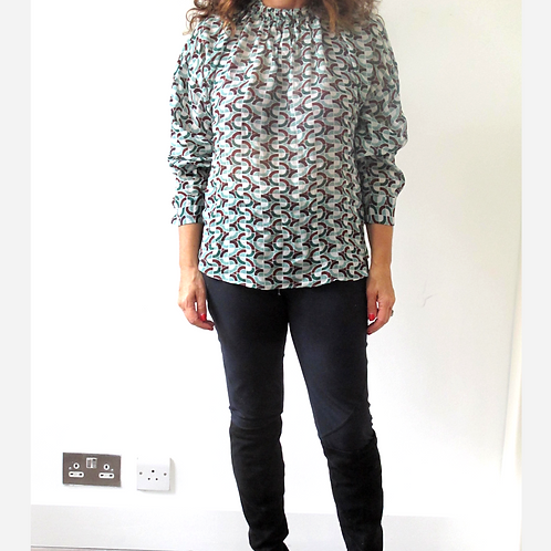 Zara Geometric Evening Blouse S