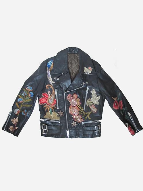 Ortov Embroidered Leather Jacket M/L